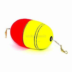 Boia de pesca Aguape Oval c/ cabo de aço flex e girador