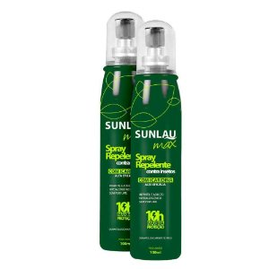 2 Repelente Sunlau Max Spray 100 ml