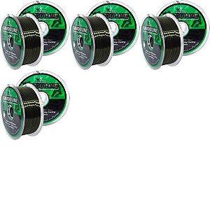 Kit Linha Monofilamen Camou Line 0,20 + 0,30 + 0,40 + 0,50mm