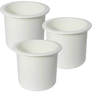 Kit de Pesca:  Porta copos de embutir branco - Naval...