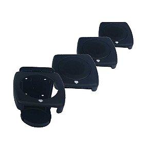 Kit 4 Porta-copos dobráveis Luxo Preto