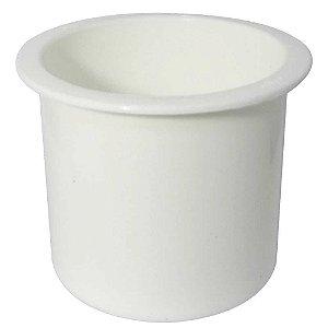 Porta copos de embutir branco - Naval