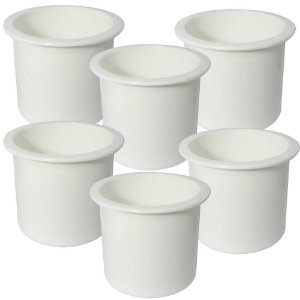 6 Porta-Copos de Embutir Branco - Naval