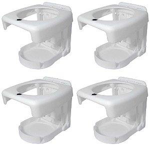 Kit 4 Porta-copos dobráveis Luxo Branco.