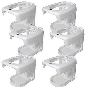 Kit 6 Porta copos-dobráveis Luxo Branco.