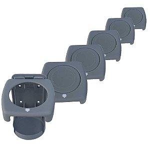 Kit 6 Porta-copos dobráveis Luxo Cinza