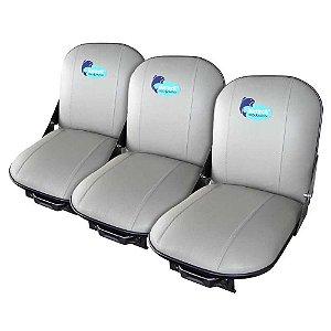 3 Poltronas (cadeira) estofada giratória e special Martinel