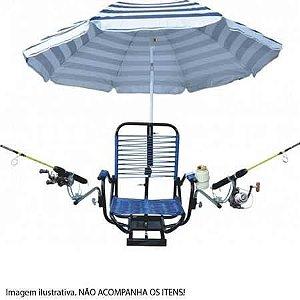 Cadeira giratória fios com sup. G. sol, varas e porta lata
