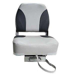 Kit- Cadeira Poltrona Barcos Cinza PV 1747 + Base giratória