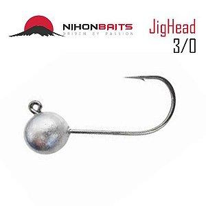 Anzol Jig Head Nihon Baits 14g - 3/0 Cor: Prata