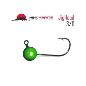 Anzol Jig Head Nihon Baits 10g - 3/0 Cor: Maçã verde