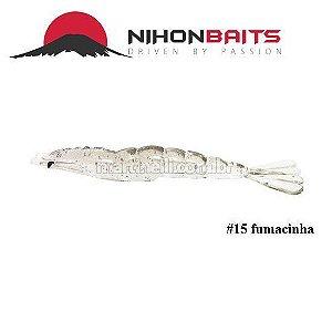 Isca artificial Camarão JET Shrimp Nihon Baits 11cm - 15 FUMACINHA