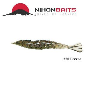 Isca artificial Camarão JET Shrimp Nihon Baits 8,7cm - 20 FERRAO