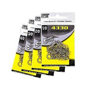 170 Anzol Marine Sports 4330 c/ farpas Nº 1/0,2/0,3/0 e 4/0