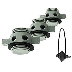 Lava motor tipo orelha universal + 2 Bujão para Viveiro de barco de alumínio.