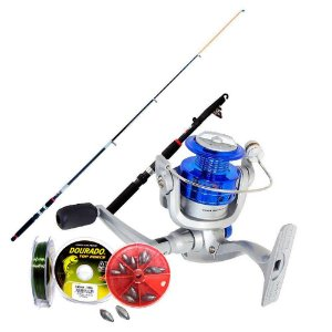 Kit de pesca Vara c/ Molinete MS Star + acessórios