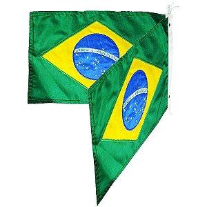 2 Bandeira do Brasil bordada 22x33 - Uso Náutico