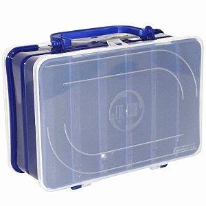 Estojo Hi Duplo 12 Repartições 13x20cm Azul Ed-12-a