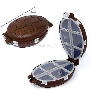 Estojo HI tartaruga marrom