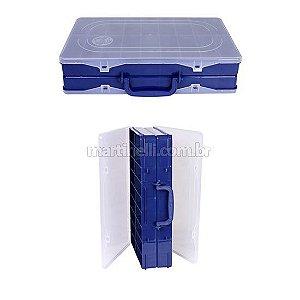 Estojo HI duplo 35 x 22 x 8,3 cm azul ED-36-A