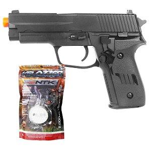 Airsoft Pistola Vg R226 2124 Mola 6mm + Esferas BBS