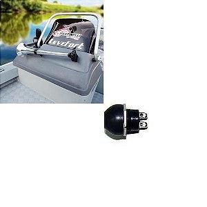 Buzina cromada Araponga + Botão para Buzina 12V.