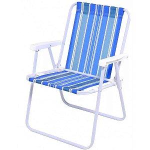 Cadeira De Praia Camping Alta De Aço Sortida Mor 2002