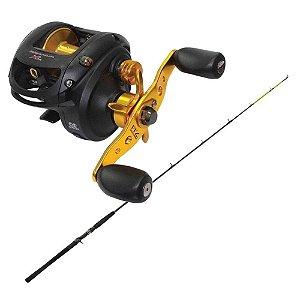 Kit de pesca Carretilha Maruri Brahva 7000 XLH (Modelo Big Game) - 7... + Vara Marine Sports Laguna 2 Nova C602H 20-40 lb - (carr...