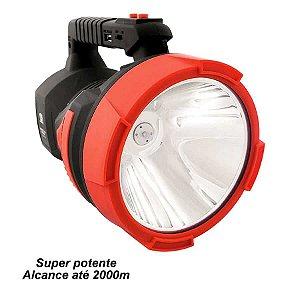 Lanterna Holofote Albatroz LED-7054 Recarregável Alcance 2000m