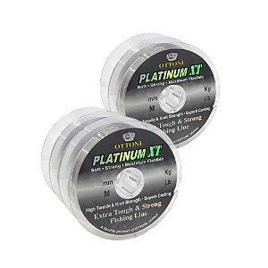 Kit 2X 0,60mm e 3X Linha Monofil Platinum XT - 0,70mm - 100m