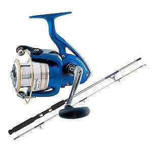 Kit de pesca Molinete Daiwa Regal 4000 XIA - 10 rolamentos... + Vara MS Combat CB-602UH 20-45lb 1,83m 2 partes - Moline...