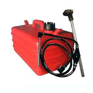Tanque de combustível 28 litros Verm- Pescador J/E-Mang J/E