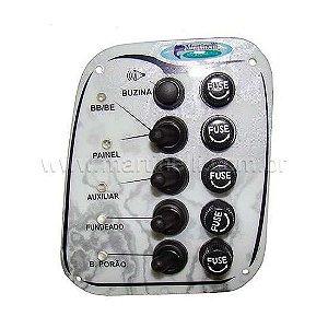 Chave painel elétrico 5 funções Branco - Naval