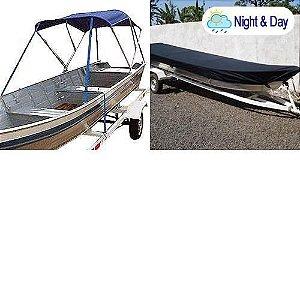 Capota Toldo de Sol + Capa para canoas (Night and Day)