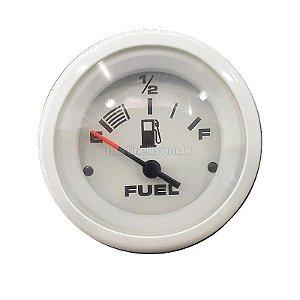 Relógio marcador de combustível branco