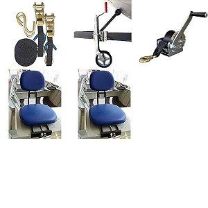 Cinta 2 pçs + Pedestal + Guincho + 02 Cadeiras giratória.