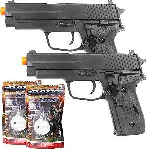 Combo 2 Pistola Airsoft Vg R226 2124 Mola + 2 Esferas BBS