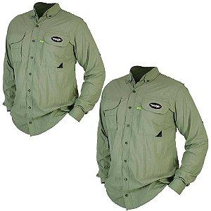 2 Camisa MTK Sky manga longa UVA e UVB Tam: G Cor: verde