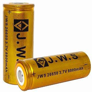 Bateria Recarregável JWS 26650  c/ 8800 Mah p/ lanternas táticas