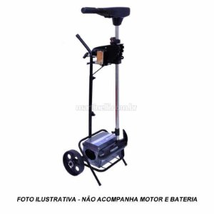 Carrinho para motor elétrico com suporte para bateria