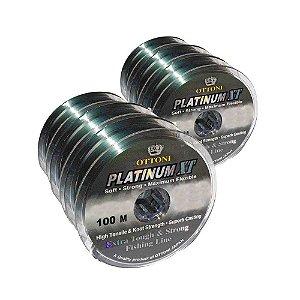 3x Linha Monofilamento Platinum XT - 0,40mm + 3x 0,50mm