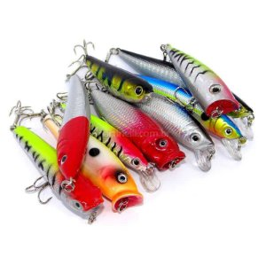Kit de iscas Top Fishing com 10 iscas