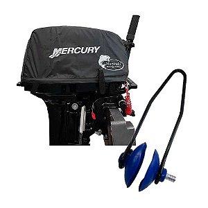 Capa de capô Mercury 15 Super + Lava motor tipo orelha.