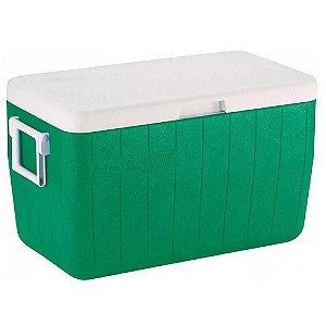 Caixa Térmica Coleman 48 Qt 45,4L Verde c/ alça