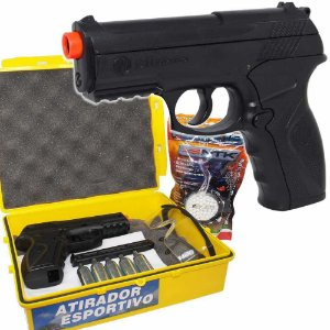 Airsoft Pistola Wingun C11 CO2 6mm c/ Kit Atirador Esportivo 25207420