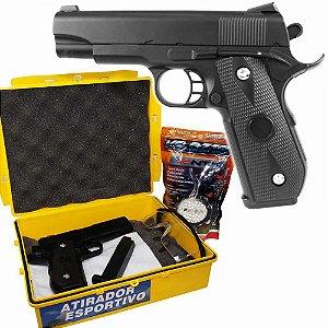 Airsoft Pistola Vg 1911-v9 Metal Mola 6mm c/ Kit Atirador Esportivo 25207623