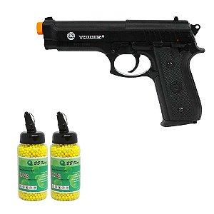 Pistola Airsoft Cybergun Taurus PT 92 Spring+ 2 Esferas BBS