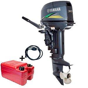 Motor de popa Yamaha 30 HP 2T + Kit partida elétrica Tornado - 0 Km - Preço à vista R$ 14.440,00 ou entrada 30% R$ 4.332,00 + 12x R$ 968,68 no cartão de credito.