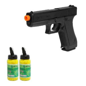 Pistola Airsoft KWC Glock G7 Spring+ 2 Esferas C/ 2000 cada