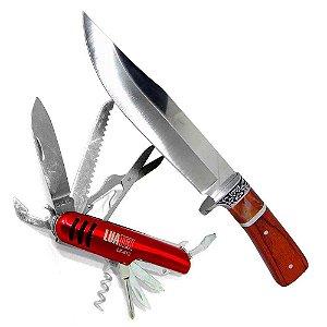 Faca Hz-06-1042 Cabo Mad + Canivete multifuncional 11 Funçõe